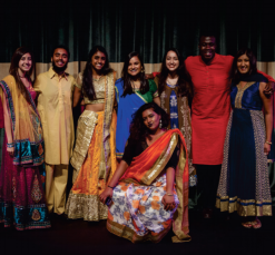 Photos Courtesy of SOPHIE HARRIS Members of FUISA participate in the organization's annual International Fashion Show, bringing awareness to international culture on campus through clothing and fashion.
