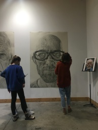 Photos Courtesy of BELLA METTS Artist Gerry Wuben finishes his two week residency with an exhibition showcase of his work in the Roe Art Buidling Art Residence space and hallways of the Roe Art Building.