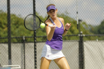 Photo Courtesy of FURMAN ATHLETICS Freshman Julia Adams and the Furman Paladins women's tennis team improves to 16-1 on the year including 2-0 in SoCon play.
